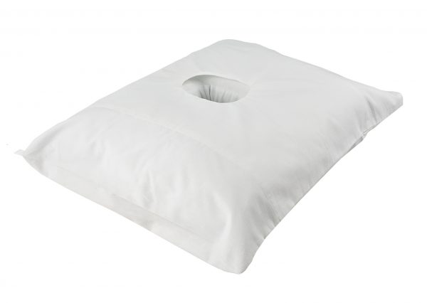 Pillow with a hole side view