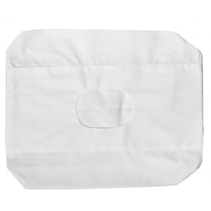 Travel pillowcase with a hole