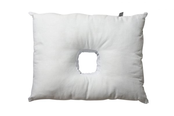 Pillow with hole